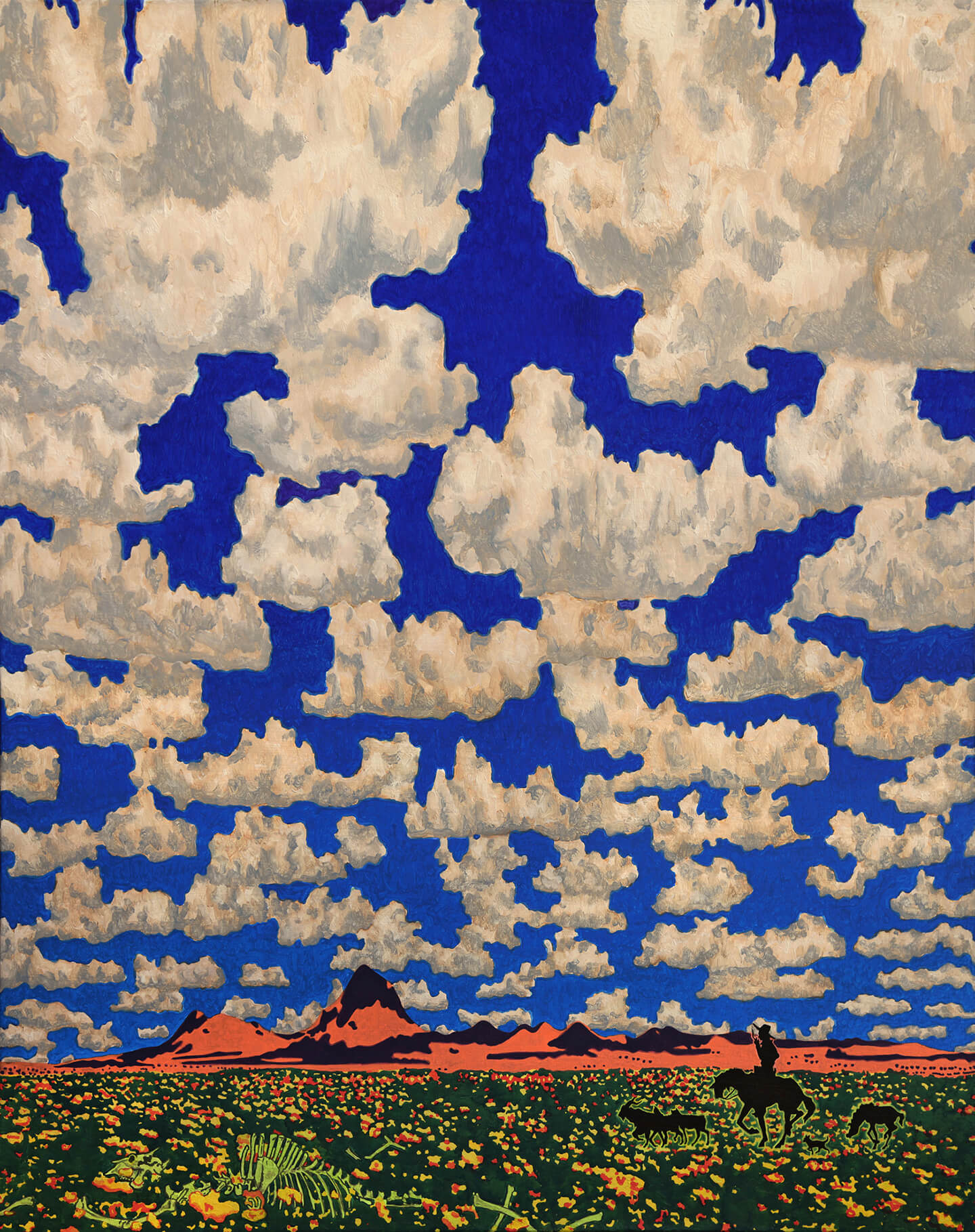 Cloud World (Shepherd with Wildflowers)